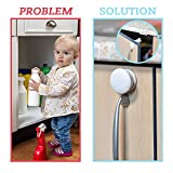 CareMe #1Magnetic Door Lock Kit For Cabinets and Drawers - Child, Baby, Todlers Proof Safety System - No Drilling - 4 locks and 1 Key