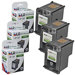 LD © Remanufactured Replacement Ink Cartridge for Hewlett Packard C8765WN (HP 94) Black (3 pack)