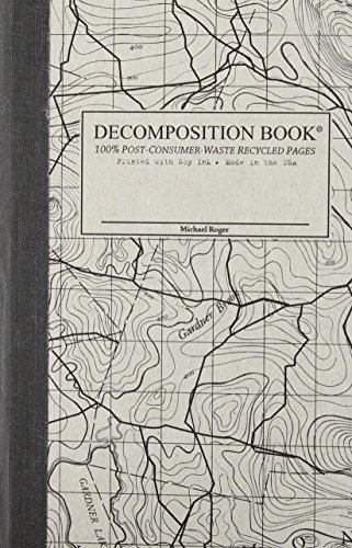 Topo Map Pocket-size Decomposition Book: Grid-ruled Composition Notebook With 100% Post-consumer-waste Recycled Pages