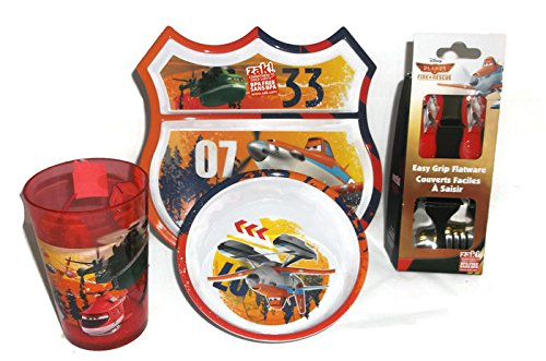 Zak Designs 5-Piece Disney Planes Fire & Rescue Mealtime Serveware Set - 1