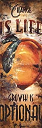 12W x 36H Change is Life by Rodney White - Stretched Canvas w/ BRUSHSTROKES