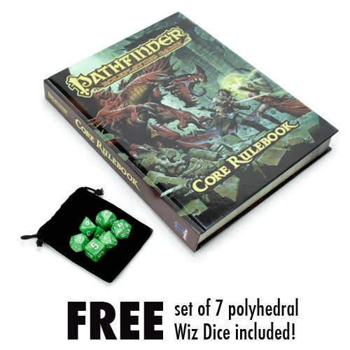 Pathfinder Roleplaying Core Rulebook with Free Set of 7 Polyhedral Wiz Dice (Heroes Quest Dice compare prices)
