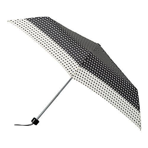 isotoner-womens-black-and-cream-supermini-polka-dot-umbrella