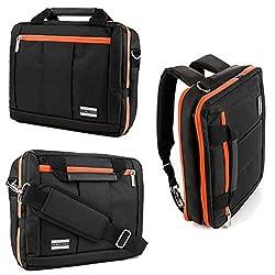 Vangoddy Citrus Orange El Prado Backpack and Messenger Bag for Samsung 12.1 to 14 inch Laptops & Ultrabooks