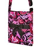 Lime Tree Quilted Floral Hipster Cross Body Handbag (New Brown/Pink)