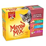 Meow Mix Savory Morsels Seafood Favorites Variety Pack, 2.75-Ounce Cups (Pack of 12)