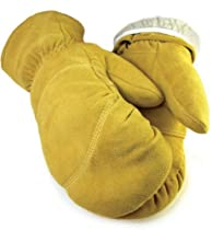 "Northstar Mens Tan Deerskin 4"" Gauntlet Mit 065T (XL)"