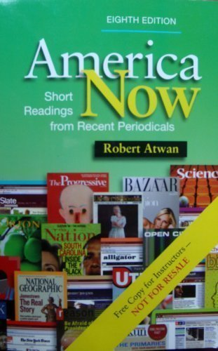America Now: Short Readings from Recent Periodicals, Instructor's Edition (America Now Short Reading compare prices)
