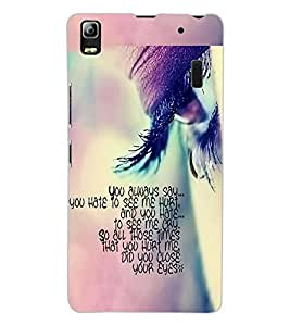 ColourCraft Quote with Image Design Back Case Cover for LENOVO A7000 PLUS