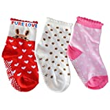 C2BB 3 pairs of girls anti slip baby socks children from 1 to 3 years old item 12