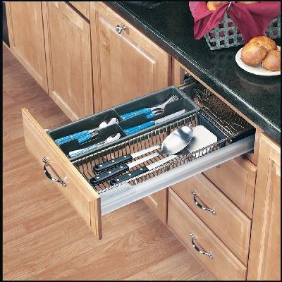 Cutlery/Utensil Organizer - Base 18 - Chrome