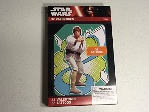 Star Wars Valentines With Tattoos - 32 Pack