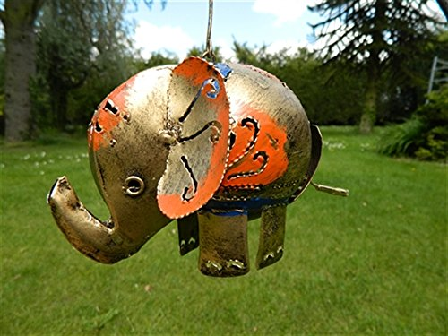 Elephant Tea light Hanging Candle Holder Metal Elephant Garden Lantern - Gold Elephant Tealight