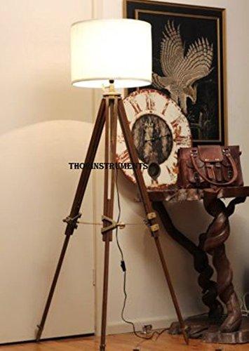 Nauticalmart Thor Vintage Classic Tripod Floor Lamp 0
