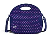 BUILT Neoprene Spicy Relish Lunch Tote, Mini Dot, Navy
