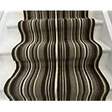 Lima 459 Choco New Any Length Modern Brown & Beige Striped Stair Runners - 90cm Wide