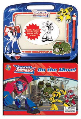 Transformers on the Move Book and Magnetic Drawer