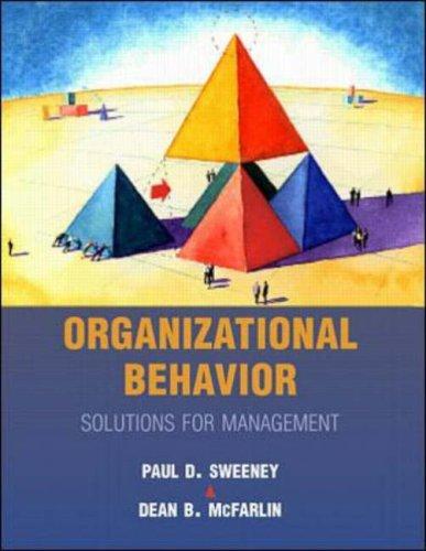 Organizational Behaviour: Solutions for Management PDF