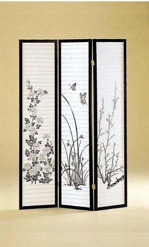 3 Panel Flower Room Divider - Coaster 4631 back-921704