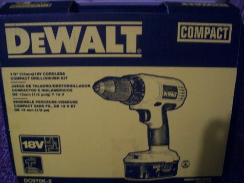 Dewalt #DC970K-2 18V Drill/Driver Kit
