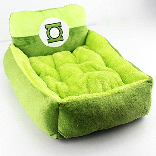 Cartoon Plush Pet Bed Soft Cotton Dog Cat Bed Totoro Hulk Shaped (L(50*45*18cm))