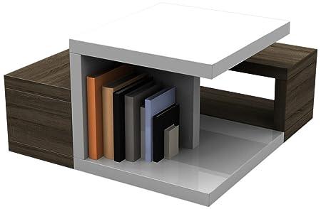 HL Design MDF Coffee Table with Melamine, Sonoma Dark Oak