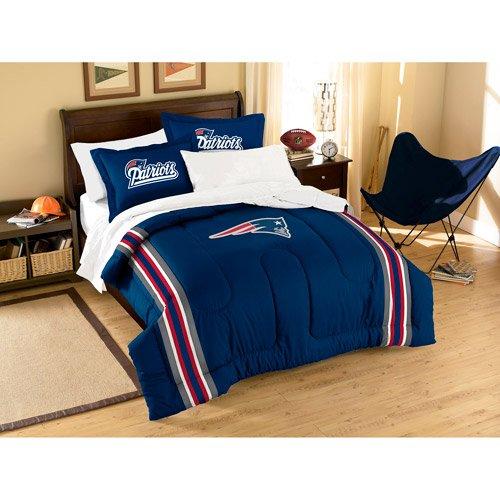 Nfl Applique 3-Piece Bedding Twin Comforter Set, New England Patriots front-13827