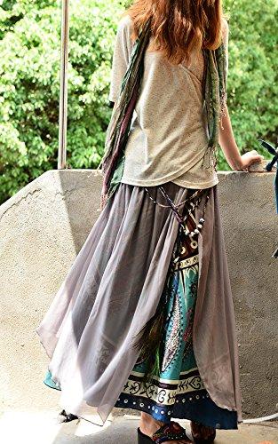 Amazon.co.jp: ネパール ピーコック シフォンマキシスカート Maxi Skirt: 服&ファッション小物通販