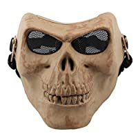 Coxeer Skull Mask Cool Skeleton Airsoft Face Mask Halloween Mask