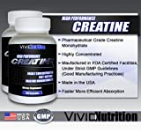 Vivid Nutrition High Performance Creatine - Highly Concentrated Creatine Monohydrate (180 Capsules) (2 Bottles)