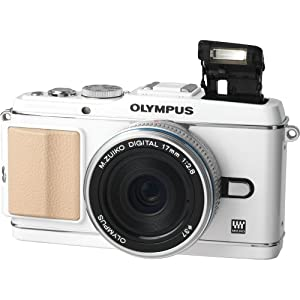 Olympus PEN E-P3 12.3 MP Live MOS Interchangeable Lens Camera with 17mm Lens (White)