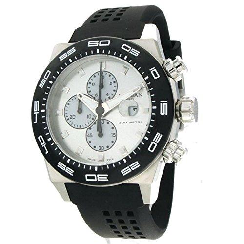 Locman reloj hombre 0217V2-0kagnks2K al cuarzo (batería) Titanio quandrante blanco correa Caucciu '