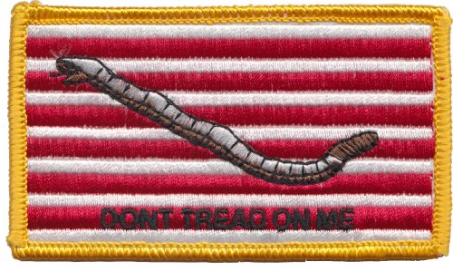 Usa Made Velcro Don'T Tread On Me Gadsden Navy Jack Patch With Velcro Red White Gold