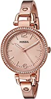 Fossil Analog Rose Gold Dial Women's Watch - ES3226