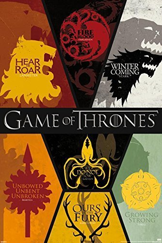 1 X Game of Thrones Poster 24x36in All House Sigils! by Imag