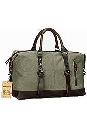 VOCHIC Oversized Leather Canvas Casual Travel Tote Luggage Satchel Hobo Duffel Handbag