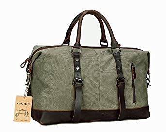 Oversized Leather Canvas Casual Travel Tote Luggage Satchel Hobo Duffel Handbag