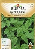 Burpee 56762 Herb Basil, Sweet Seed Packet
