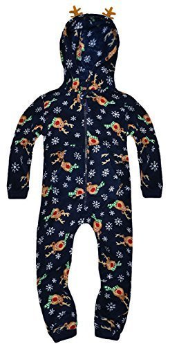 Kids-Boys-Girls-Xmas-Onesie-New-Hooded-Nightwear-Christmas-All-In-One