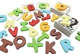 【知育玩具】 木製 アルファベット 動物 絵カードパズル 木製文字数字パズル (アルファベット)