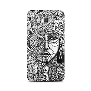 Mobicture Skull Abstract Premium Printed Case For Samsung J1 Ace