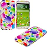 "myLife (TM) Rainbow Glossy Bubbles Series (2 Piece Snap On) Hardshell Plates Case for the Samsung Galaxy S4 ""Fits... by myLife Brand Products"