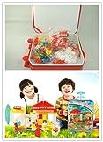 〈I-Accessory〉〈赤ちゃんの世界へようこそ!!〉〈全4種〉 積み木 シーンの積み木 赤ちゃん おもちゃ 知育玩具 3歳から 手提げ スーツケース 服なども入れる 安全/無毒/環保/耐磨き children's Building block (スーパーマーケット)