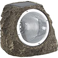 Solar Rock Floodlight-TAN SOLAR ROCK LIGHT