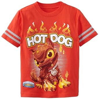 Skylanders Little Boys' Skylander Hot Dog Short Sleeve Tee, Bright Red, 5/6