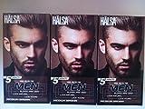 3 Boxes Halsa Men Blends Aways Gray Color Dye Dark Brown