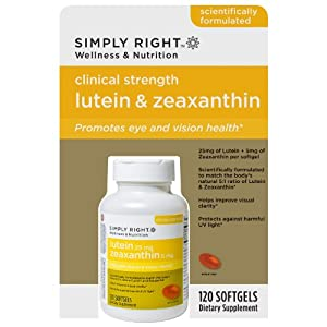 Simply Right Lutein 25mg & Zeaxanthin 5mg - 120 Ct
