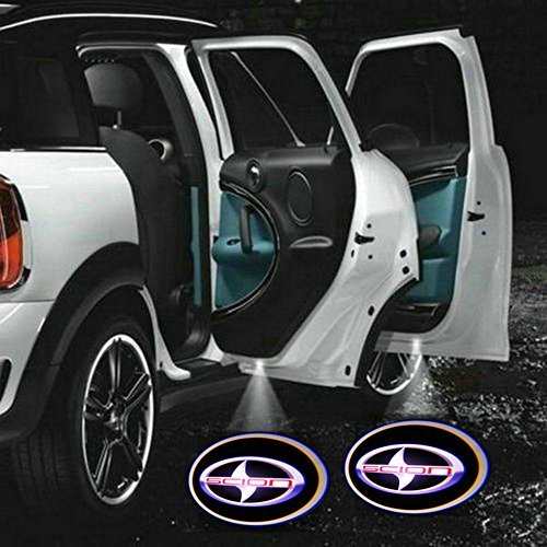 2 X 5Th Gen Led Car Door Ghost Shadow Laser Projector Logo Light For Scion Xa Xb Tc Xd Iq Rr-S
