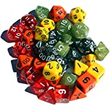 30+ Polyhedral Dice | Random | 35 Dice in 5 Complete Sets