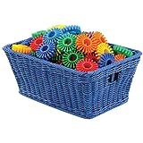 Small Plastic Wicker Basket - Blue (Each)